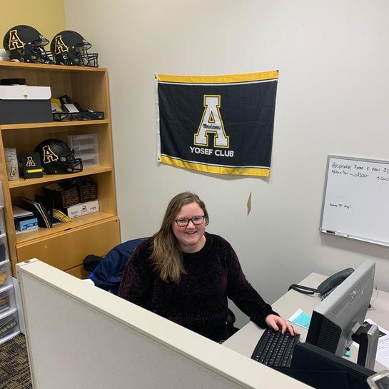 Allison Coakley in offices of Yosef Club