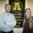 Dr. Mark Bradbury and graduate student Gretchen Vetter