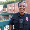 Cashae Cook '14, who serves as the diversity, inclusion and community engagement officer in the Appalachian Police Department — the official policing agency of Appalachian State University. Photo by Chase Reynolds