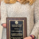 Paige Anderholm with Global Leadership Award