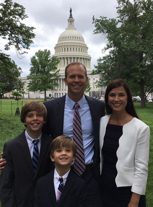 Brock Long with family