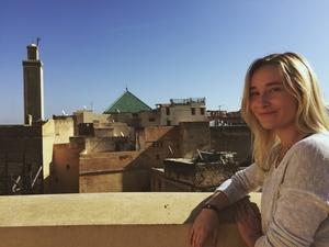 Laurel Roser in Morocco