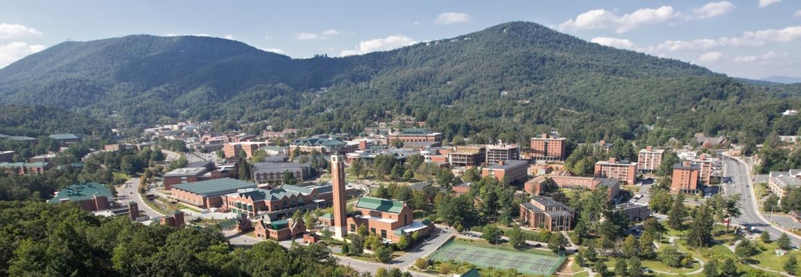aerial campus view