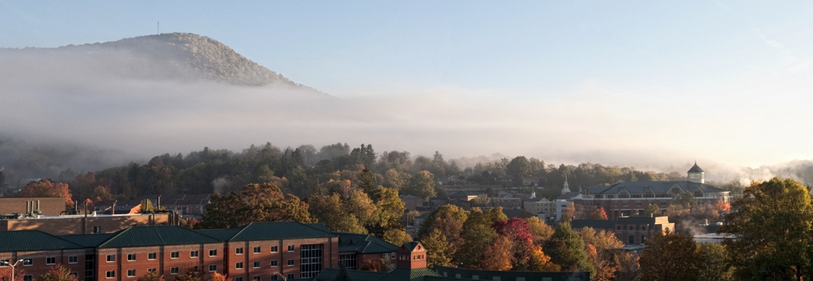 campus view in fall