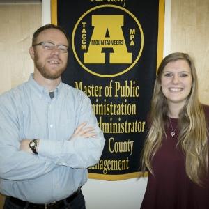 Dr. Mark Bradbury and graduate student Gretchen Vetter