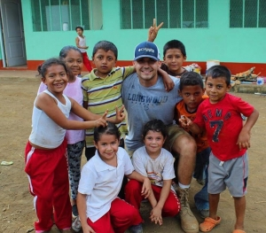 Kendall Hughes, on a mission trip to Nicaragua
