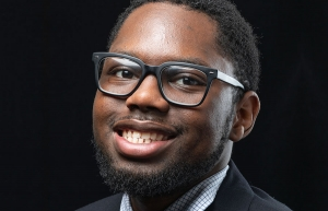 Travian Smith, a senior political science major with a concentration in public administration from Charlotte, is Appalachian's first recipient of the National Pan-Hellenic Council Divine Nine Leadership Award. Photo by Chase Reynolds